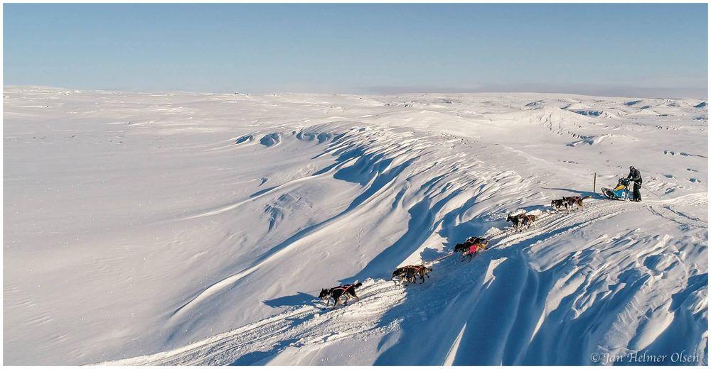 Tam daleko na severu v boji s větrem, sněhem a krutou, ale krásnou přírodou...