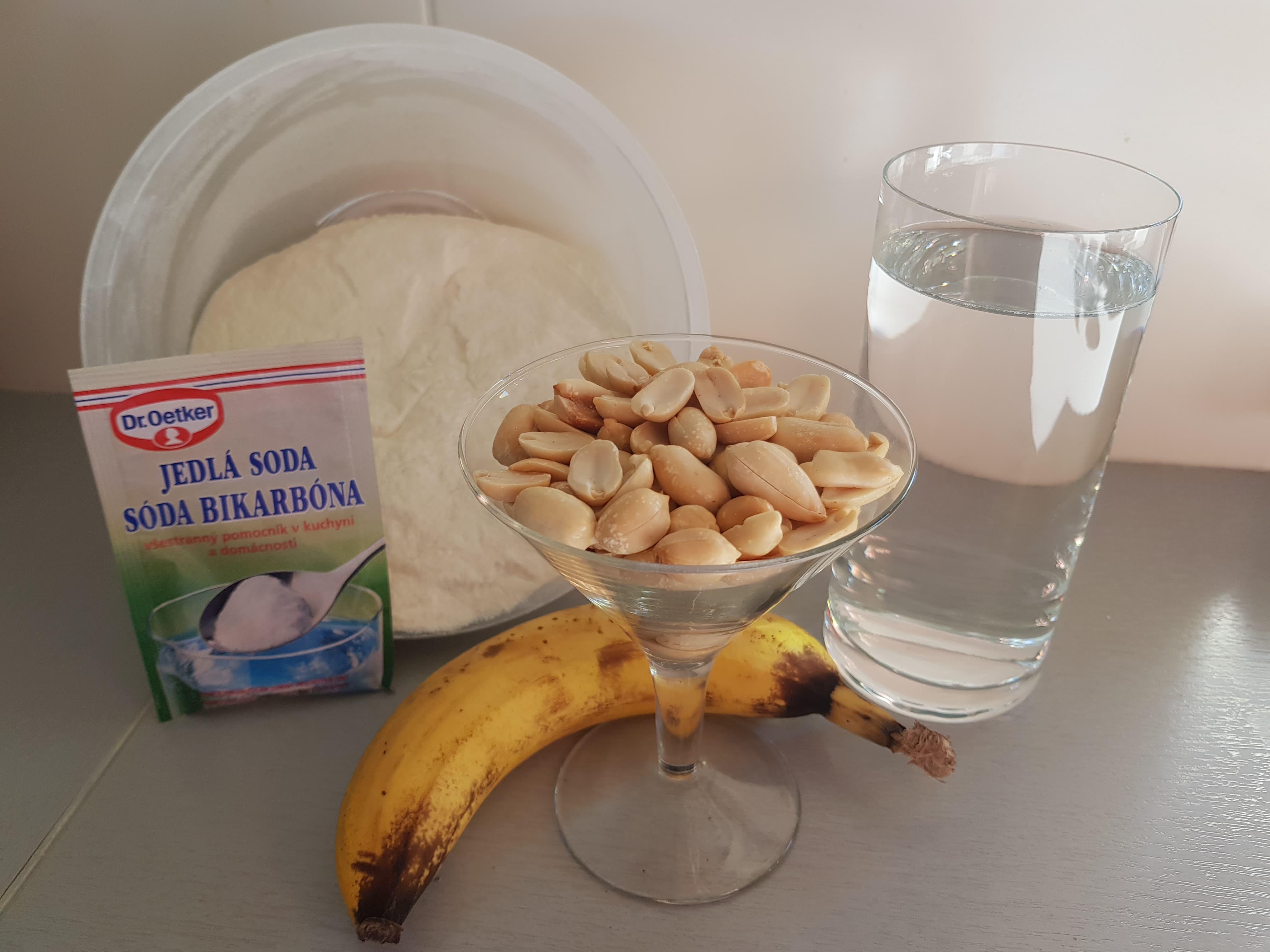 banánovo arašídové kuličky